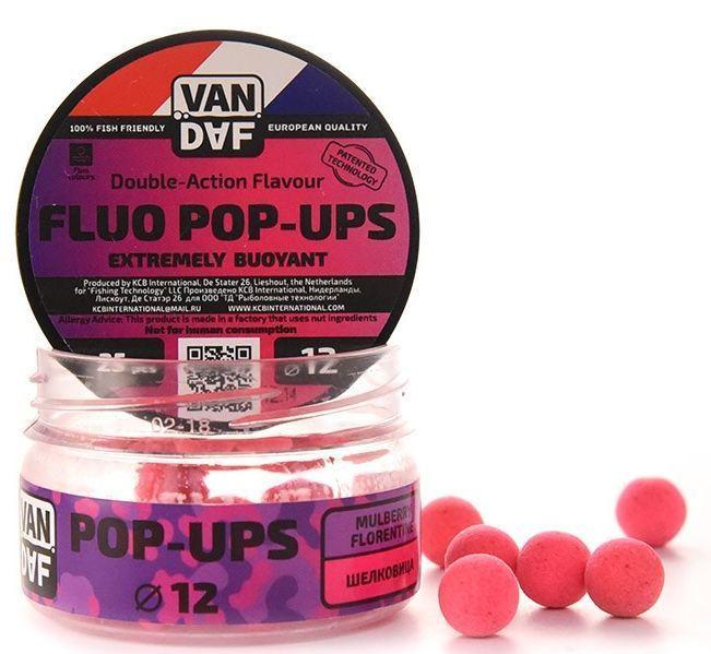 Поп-апы VAN DAF Mullberry Florentine - Шелковица, 12мм, Насадки<br>OP-UPS VAN DAF (Поп-апы), плавающие флуоресцентные. <br>Невероятно привлекательная насадка с потрясающей <br>видимостью даже в воде с минимальной прозрачностью. <br>Сохраняет положительную плавучесть несколько <br>часов. Поп-апы созданы для традиционной <br>карповой ловли, а в сочетании с жидкими <br>аттрактантами VAN DAF являются отменной насадкой <br>для ловли на FLAT FEEDER (флэт фидер). Поп-апы <br>имеют уникальную мягкую губчатую структуру, <br>отлично впитывающую стимуляторы аппетита <br>и мгновенно отдающую запах в воде. С нашими <br>поп-апами легко работать. Вы можете без <br>проблем проткнуть их иглой или привязать <br>к волосу. Мягкий и податливый материал легко <br>режется. С помощью ножа или ножниц вы сможете <br>придать любой размер или форму вашей насадке. <br>Каждый POP-UP пропитан ароматизатором с привлекательным <br>для карпа запахом. Вы сможете подобрать <br>необходимый цвет и запах под любые условия <br>ловли. Яркий флуоресцентный цвет делает <br>насадку на волосе хорошо заметной, а расходящийся <br>от нее запах выделяет ее на дне и провоцирует <br>рыбу на поклёвку. Измельчив и добавив их <br>в спод–микс совместно с пеллетсом, зерновыми <br>миксами, резаными бойлами, можно придать <br>смеси активность с помощью всплывающих <br>частиц. Для улучшения работы POP-UPS перед <br>ловлей советуем пропитать их в дипах или <br>бустерах VAN DAF. Размер 12 Цвет Розовый Сезон <br>Всесезонные Вес 20 г Бренд VAN DAF<br>