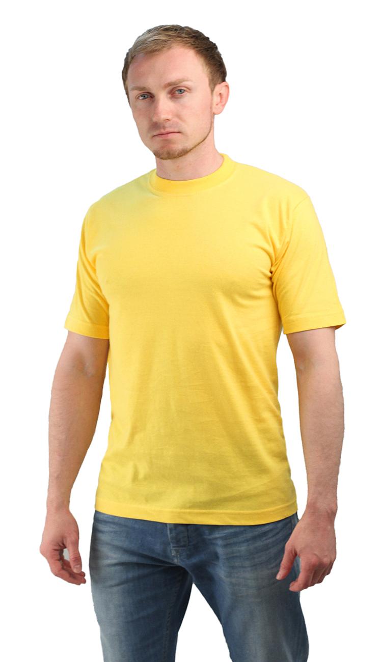 Футболка желтая (XL)Футболки к/рукав<br>Классическая футболка из мягкого эластичного <br>трикотажа. - прямой силуэт - короткий рукав <br>- круглый вырез горловины Размеры: M-XXXL<br><br>Пол: мужской<br>Размер: XL<br>Сезон: все сезоны<br>Цвет: желтый<br>Материал: Трикотаж (95% - х/б, 5% - лайкра), пл. 160 г/м2.