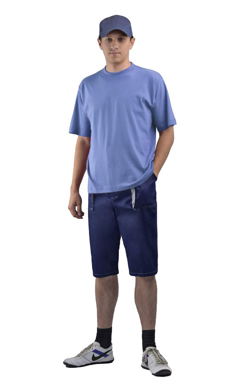 Шорты мужские т.синии (56-58, 170-176)Шорты<br>Куртка с застёжкой на молнию, воротником-стойка, <br>с поясом. Брюки с отстёгивающимися бретелями.<br><br>Пол: мужской<br>Размер: 56-58<br>Рост: 170-176<br>Сезон: лето<br>Цвет: т. синий<br>Материал: Смесовая (65% полиэфир, 35% хлопок), пл. 210 г/м2,