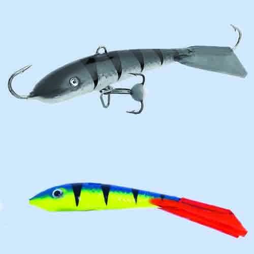 Балансир Lucky John Fin 5 + Тр. 70Мм/36Rt БлистерБалансиры<br>Балансир Lucky John FIN 5 + тр. 70мм/36RT блистер расцв.36RT/р.тр.12/вес <br>20г/инд.уп. Популярный у рыболовов балансир, <br>для ловли крупного окуня, берша, судака <br>и щуки длиной 70 мм. Для ловли судака его <br>с успехом мож но исполь зовать на глубинах <br>до 13 м, если на водоеме нет течения. Для ловли <br>крупного окуня рекомендует- ся использовать <br>монофильную леску диаметром от 0,18 до 0, 25 <br>мм, (для ловли судака и щуки до 0,30 мм) или <br>плетеный шнур 0,11–0,15 мм.<br><br>Сезон: зима