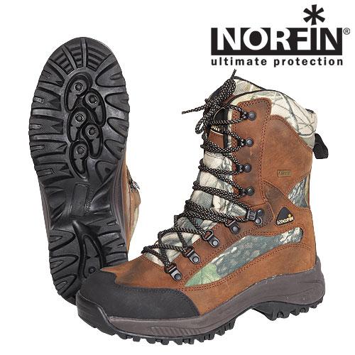 """Ботинки Norfin Trek (44, 13991-44)Ботинки для активного отдыха<br>Высокие ботинки отлично подойдут для рыбалки, <br>охоты и активного отдыха. Изготовлены из <br>влагостойкого мембранного материала. Наличие <br>высокой подошвы и легкого утеплителя не <br>позволит замерзнуть ногам. Особенности: <br>- подошва под мыском чуть приподнята для <br>защиты; - верхняя часть ботинок сделана <br>из мембранного материала; - прочные, длинные <br>шнурки; - легкий утеплитель Thinsulate; - подошва <br>из резины и EVA; - петля на задней части ботинка <br>для удобства одевания; - сплошной """"язычок"""" <br>исключающий попадание влаги внутрь; - невынимаемая <br>внутренняя стелька; - глубокий протектор <br>для сцепления.<br><br>Пол: мужской<br>Размер: 44<br>Сезон: лето<br>Цвет: коричневый"""