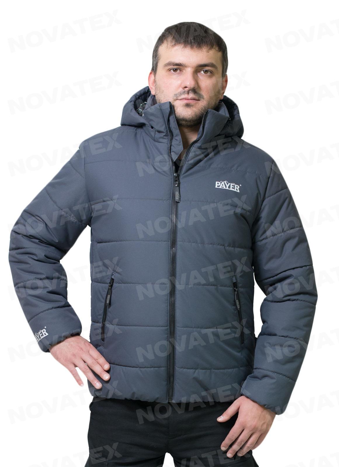 Куртка «Партизан NEW» (таслан, серый) (реверс) Куртки утепленные<br>Зимняя куртка «Партизан» (ТМ «Payer») от компании <br>Novatex это еще один представитель универсальной <br>линейки костюмов, которые подойдут как <br>для города, так и для природы. Эта куртка <br>из современной мембранной ткани «Таслан» <br>с отличной водо-ветрозащитой, обладает <br>хорошей паропроводимостью. (5000/5000). Надежный <br>слой утеплителя «Термотекс» и фольгированная <br>подкладка обеспечивают сохранение тепла <br>и создают надежную защиту от холода.<br><br>Пол: мужской<br>Размер: 44-46<br>Рост: 170-176<br>Сезон: зима<br>Цвет: синий