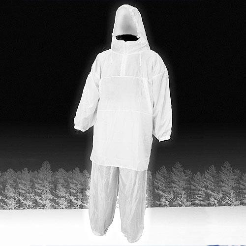 Костюм Маскировочный Метель Белый Шелк Костюмы маскировочные<br>Костюм маскировочный МЕТЕЛЬ белый шелк, <br>разм.50-56/мат.ацетатный шелк/цв. бел. Зимний <br>маскировочный костюм Метель для зимней <br>охоты, одевается поверх зимней утепленной <br>одежды. Предназначен для маскировки в зимнем <br>лесу, на заснеженном поле. В нем вы не будете <br>цепляться за ветки деревьев. Изготовлен <br>из ацетатного шелка -позволяет охотнику <br>полностью слиться с окружающей местностью <br>Цвет- белый Особенности модели: -куртка <br>анорак с молнией до середины груди -куртка <br>имеет прорези для доступа в карманы зимней <br>одежды -капюшон стягивается шнуром с фиксатором <br>-резинка по поясу и низу брюк<br><br>Пол: мужской<br>Размер: 50-56<br>Сезон: зима<br>Цвет: белый