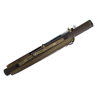 Тубус для удочек Aquatic с карманом 110мм (110мм, Тубусы<br>Жесткий тубус Aquatic диаметром 110 мм. Сделан <br>из непромокаемой ткани и жесткой пластиковой <br>трубы. Тубус данной модели снабжен дополнительным <br>карманом для хранения и транспортировки <br>подсака, багра, стоек для удилищ и т. д. Предназначен <br>для надежной защиты удилищ и спиннингов. <br>В данный тубус вмещается до 7 шт., спиннингов <br>или удилищ. Торцы тубуса закрыты пластиковыми <br>колпаками. На крышке тубуса применяется <br>прочная- высококачественная молния. Длины: <br>132см, 145см, 160 см.<br><br>Размер: 110мм, 145см