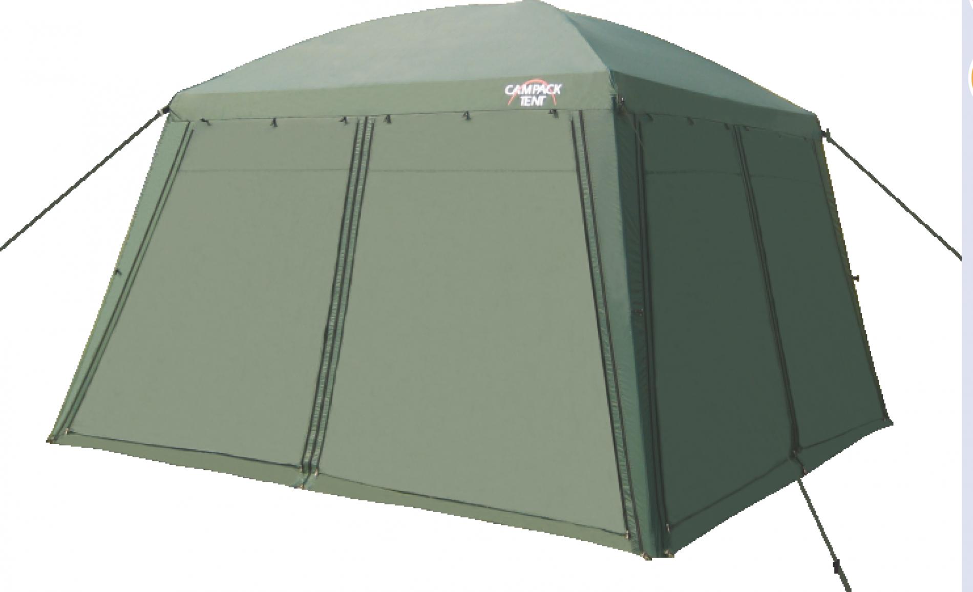 Тент CAMPACK-TENT G-3001Тенты<br>Ткань тента: 190T P. Taffeta PU 3000MM Сетка: No-See-Um <br>Mesh Стойки: Сталь 19 мм<br>