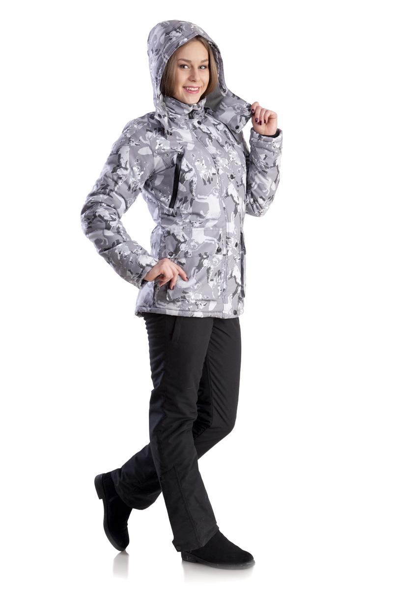 Костюм женский Лиса зимний тк. мембрана Костюмы утепленные<br>Утеплённый комфортный женский костюм для <br>зимней рыбалки, охоты и активного отдыха. <br>Выполнен из ветронепродуваемой и водонепроницаемой <br>мембранной ткани. Предназначен для защиты <br>от пониженных температур, ветра, атмосферных <br>осадков в зимний период. Отлично сидит на <br>фигуре. Для удобства переобувания по низу <br>штанин - расширитель на молнии с планкой. <br>Костюм лёгкий по весу и удобный в эксплуатации. <br>Куртка •ветрозащитная планка •воротник-стойка <br>•боковые нагрудные карманы на молнии для <br>согрева рук •внутренние карманы на молнии <br>для мобильного телефона и документов •большие <br>накладные карманы для мелочей •капюшон <br>анатомического кроя с утяжкой по обзору <br>•крепление капюшона к куртке замком-молнией <br>•трикотажные манжеты в рукаве Полукомбинезон <br>•регулируемая кулиса по талии •застёжка-гульфик <br>•регулируемые эластичные лямки •два набедренных <br>кармана на молнии •расширитель в нижней <br>части штанин с планкой на молнии Утеплитель <br>- Альполюкс: Сочетание уникального микроволокна <br>и натуральная шерсть мериноса. Волокно <br>создаёт структуру материала, а шерсть повышает <br>его эксплуатационные характеристики и <br>добавляет в копилку преимуществ лечебные <br>свойства. Волокно имеет мелкую структуру, <br>состоящую из тысячи переплетённых нитей. <br>Благодаря этому внутри наполнителя создаётся <br>микроклимат, который поддерживает оптимальную <br>температуру для тела и обладатель одежды <br>не испытывает дискомфорта при повседневном <br>ношении.<br><br>Пол: женский<br>Размер: 44-46<br>Рост: 164<br>Сезон: зима<br>Цвет: серый<br>Материал: мембрана