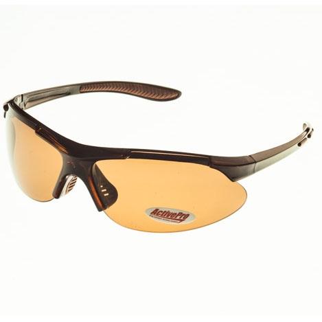 Очки поляризационные ActivePro Коричневые Очки для активного отдыха<br>Свойства цвет вставки: коричневый цвет <br>линзы: коричневый цвет оправы: коричневый <br>кристалл поляризация: Cat. 3 материал : пластик <br>Описание Поляризационные очки отфильтровывают <br>UV лучи, уменьшают поток света, попадающего <br>на сетчатку, тем самым защищая глаза. Поглощая <br>блики солнечных лучей, очки позволяют видеть <br>рыбу и дно водоема. Коричневые линзы - универсальные, <br>они лучше всего подходят для постоянного <br>использования, потому что сохраняют естественную <br>цветопередачу, просто снижая суммарное <br>количество видимого цвета, повышая при <br>этом контрастность<br>