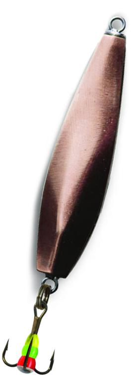 Блесна зимняя SWD DIJ 038 (42мм, вес 7г, 2 коронки Блесны<br>Зимняя вертикальная паянная блесна с 2-мя <br>коронками (с одной стороны никель, с другой <br>медь). Предназначена для отвесного блеснения. <br>Длина 42мм, вес 7г. Оснащена тройником №10 <br>со светонакопительной каплей. Упакована <br>в блистер.<br>