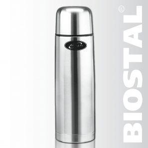 Термос Biostal NВ-1000 1,0л (узкое горло, 2 пробки)Термосы<br>Легкий и прочный Сохраняет напитки горячими <br>или холодными долгое время Изготовлен из <br>высококачественной нержавеющей стали С <br>крышкой-чашкой Укомплектован дополнительной <br>пробкой Характеристики: Объем: 1,0 литра <br>Высота: 30,5 см Диаметр: 8,5 см Вес: 690 г Размеры <br>упаковки: 9х9х38,4 см<br>