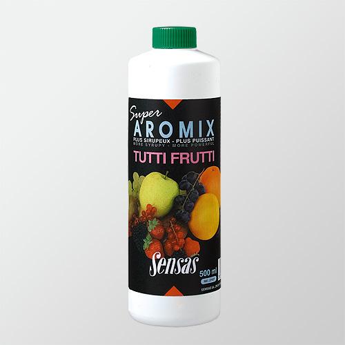 Ароматизатор Sensas Aromix Tutti Frutti 0.5ЛАроматизаторы<br>Ароматизатор Sensas AROMIX Tutti Frutti 0.5л сироп/Фрукты/10-25% <br>от объема воды/уп.0,5л Новый сироп с ароматом <br>фруктов эффективен при ловле карповых рыб <br>и лещей.<br><br>Сезон: лето