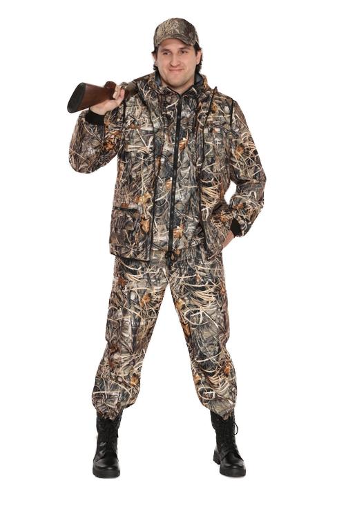 Костюм мужской Тройка демисезонный кмф Костюмы утепленные<br>Костюм состоит из куртки, брюк и жилета <br>Жилет утепленный: * воротник стойка * центральная <br>застежка на молнию * нагрудные объемные <br>накладные карманы с застежкой липучку * <br>нижние многофункциональные накладные объемные <br>карманы на молнии и липучке * внутренний <br>карман для документов Куртка с капюшоном <br>на подкладке из сетки: * центральная застежка <br>молнию * притачной капюшон с регулировкой <br>объема по лицевому вырезу * низ куртки регулируется <br>по объему эластичным шнуром * рукава с трикотажными <br>манжетами * нагрудные накладные объемные <br>карманы с клапанами на липучке * нижние <br>прорезные карманы с листочкой Брюки на <br>подкладке из сетки: * пояс с эластичной лентой <br>со шлевками под широкий ремень * защипы <br>в области коленей обеспечивают свободу <br>движения * боковые накладные объемные карманы <br>с клапанами на кнопках<br><br>Пол: мужской<br>Размер: 44-46<br>Рост: 170-176<br>Сезон: демисезонный<br>Материал: Алова 100% полиэстер