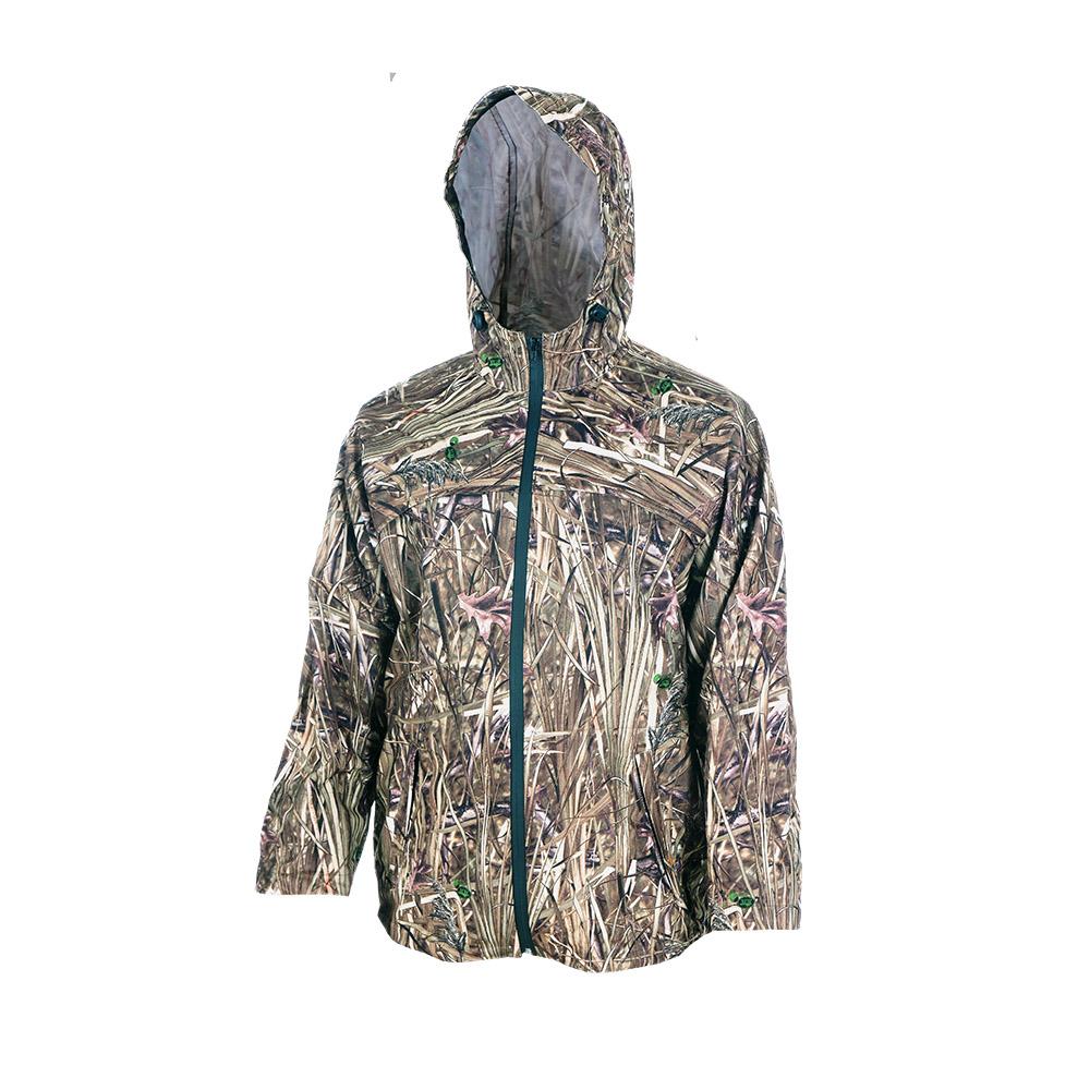 Непромокаемый маскировочный костюм ХСН Костюмы неутепленные<br>Изготовлен из нешуршащей влагостойкой <br>синтетической ткани. Все швы проклеены. <br>В комплект входит куртка и брюки. Особенности: <br>- молнии - влагозащищенные; - вентилируемая <br>кокетка; - застегивается на молнию; - утягивающийся <br>капюшон.<br><br>Пол: мужской<br>Размер: 50 - 52 / 182<br>Сезон: лето<br>Цвет: камуфляжный<br>Материал: Oxford 250 (100% п.э.)