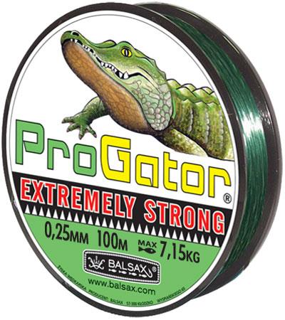 Леска BALSAX Progator 100м 0,25 (7,15кг.)Леска монофильная<br>Леска Progator - крепкая леска, особенно рекомендуемая <br>для ловли хищной рыбы. Прекрасно подходит <br>для спиннинга.<br><br>Сезон: лето