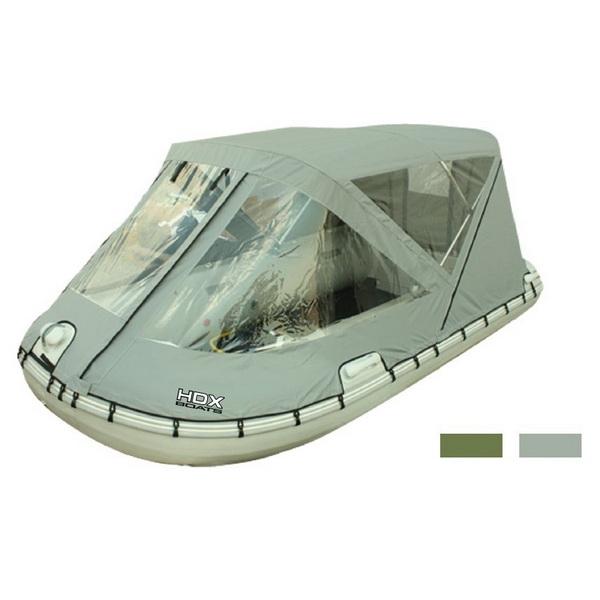 Тент Ходовой HDX 300 Для Лодки (Пвх, Алюм. Дуги),  Цвет Оливка