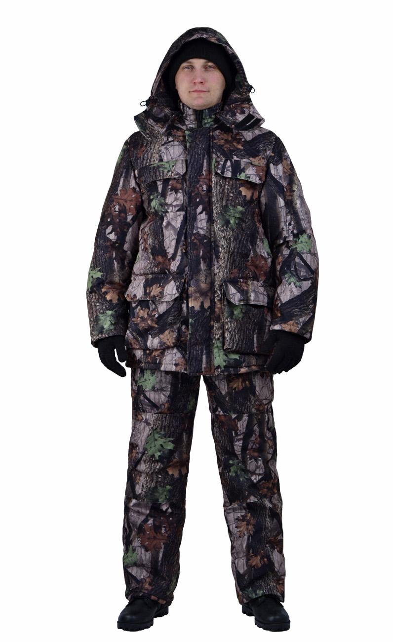 Костюм мужской Nordwig Буран демисезонный Костюмы утепленные<br>Камуфлированный универсальный костюм <br>для охоты, рыбалки и активного отдыха при <br>низких температурах. Не шуршит. Состоит <br>из удлинненной куртки с капюшоном и полукомбинезона. <br>Куртка: • Отстегивающийся и регулируемый <br>капюшон. • Центральная застежка молния <br>с ветрозащитной планкой и контактной лентой. <br>• Боковые и нагрудные накладные карманы <br>с клапанами. • Усиление в области локтей. <br>• Манжеты на резинке Полукомбинезон: • <br>Закрывает грудь и спину. • Застежка с двухзамковой <br>молнией. • Боковые карманы. • Бретели регулируемые. <br>• Талия регулируется резинкой • Наколенники <br>с отверстиями для амортизационных накладок.<br><br>Пол: мужской<br>Размер: 52-54<br>Рост: 182-188<br>Сезон: демисезонный<br>Материал: Алова 100% полиэстер