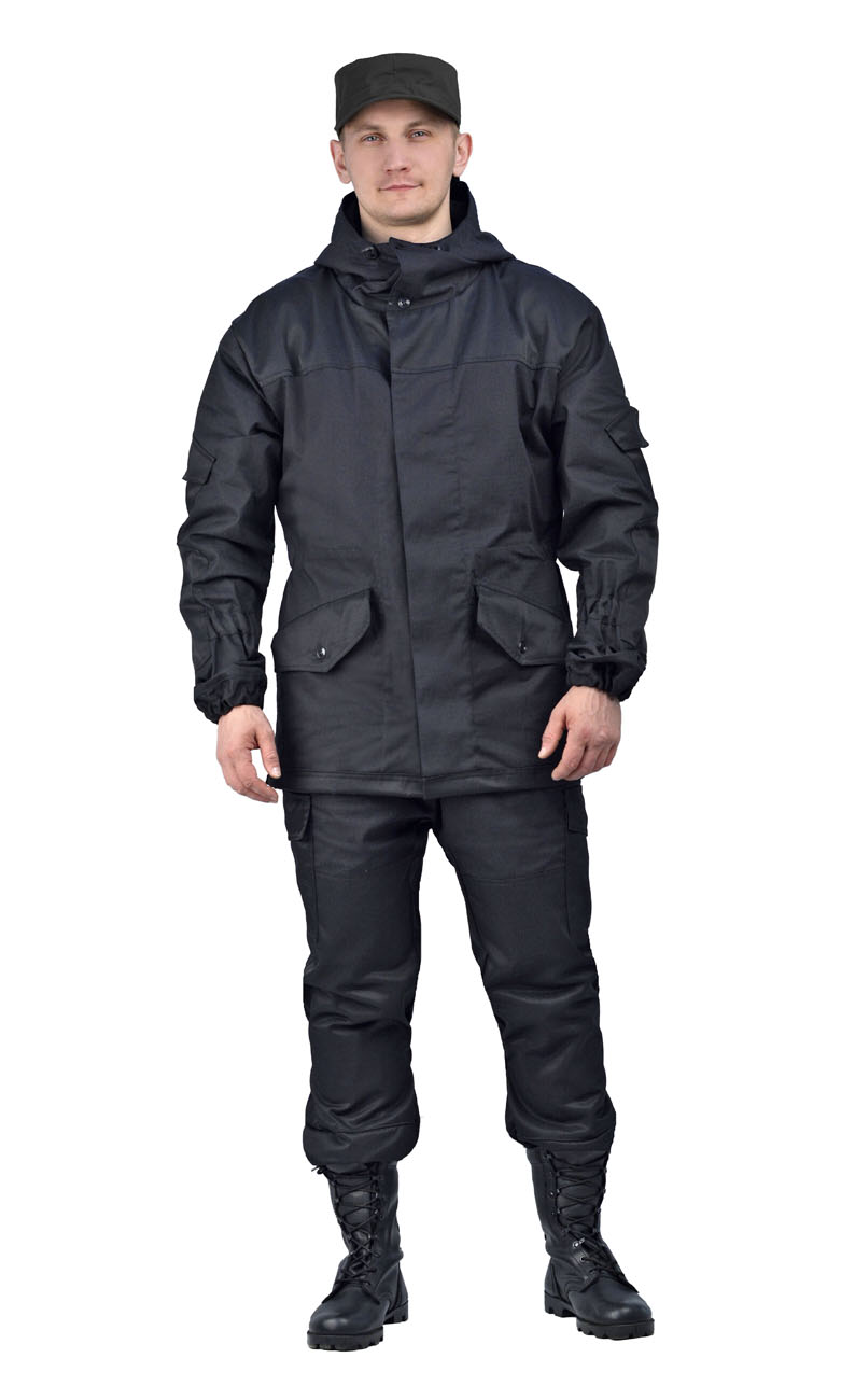 Костюм мужской Горка 3 летний палатка Костюмы неутепленные<br>Куртка: • свободного кроя; • застёжка центральная <br>супатная, на петлю и пуговицу; • кокетка, <br>накладки и карманы из отделочной ткани; <br>• 2 нижних прорезных кармана с клапаном, <br>на петлю и пуговицу ; • внутренний отлетной <br>карман на пуговицу; • на рукавах по 1 накладному <br>наклонному карману с клапаном на петлю <br>и пуговицу • в области локтя усиливающие <br>фигурные накладки; • низ рукавов на резинке; <br>• капюшон двойной, с козырьком, имеет утягивающую <br>кулису для регулировки по объему ; • подгонка <br>по талии с помощью кулиски; Брюки: • свободного <br>покроя; • гульфик с застёжкой на петлю и <br>пуговицу; • 2 верхних кармана в боковых <br>швах, • в области коленей, на задних половинках <br>брюк в области сидения – усиливающие накладки; <br>• 2 боковых накладных кармана с клапаном; <br>• 2 задних накладных фигурных кармана на <br>пуговицах; • крой деталей в области коленей <br>препятствует их вытягиванию; • Пылезащитная <br>юбка из бязи по низу брюк; • задние половинки <br>под коленом собраны резинкой; • пояс на <br>резинке; • низ на резинке;<br><br>Пол: мужской<br>Размер: 44-46<br>Рост: 170-176<br>Сезон: лето<br>Цвет: черный<br>Материал: «Палаточное полотно» (100% хлопок), пл. 270