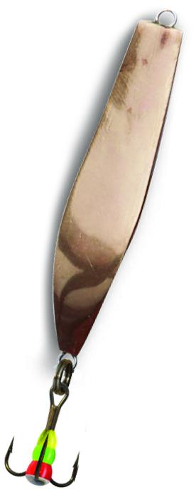 Блесна зимняя SWD DIJ 041 (55мм, вес 13г, 2 коронки Блесны<br>Зимняя вертикальная паянная блесна с 2-мя <br>коронками (с одной стороны никель, с другой <br>медь). Предназначена для отвесного блеснения. <br>Длина 55мм, вес 13г. Оснащена тройником №8 <br>со светонакопительной каплей. Упакована <br>в блистер.<br>