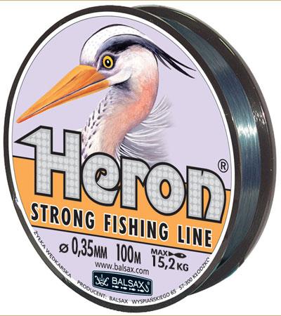 Леска BALSAX Heron 100м 0,35 (15,2кг.)Леска монофильная<br>Леска Heron - способна растягиваться во время <br>ловли, используется в качестве амортизатора <br>и защищает её от разрыва. Эта способность <br>к растягиванию имеет свои пределы, вне которых <br>наступает разрыв лески. Рекомендуется для <br>поплавочного и глубинного метода ловли <br>рыбы.<br><br>Сезон: лето