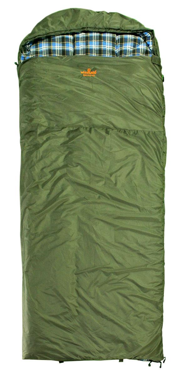 Спальный мешок Woodland BERLOGA 400 R (шерсть+холофайбер) спальный мешок woodland berloga 400 r правосторонняя молния цвет хаки