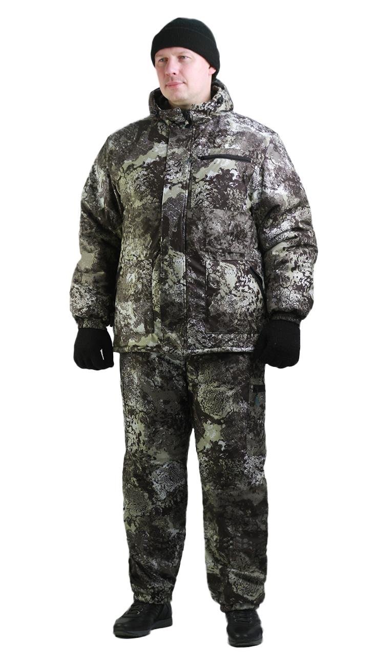 Костюм мужской Турист 1 зимний, кмф алова Костюмы утепленные<br>Камуфлированный унверсальный зимний костюм <br>для охоты, рыбалки и активного отдыха . Состоит <br>из куртки с капюшоном и брюк. Куртка: • Регулируемый <br>капюшон. • Центральная застежка молния. <br>• Боковые и нагрудный прорезные карманы <br>на молнии. • Низ куртки и манжеты на резинке. <br>Брюки: • Два врезных кармана и два накладных <br>на молнии. • Пояс и низ брюк на резинке.<br><br>Пол: мужской<br>Размер: 60-62<br>Рост: 182-188<br>Сезон: демисезонный<br>Цвет: серый
