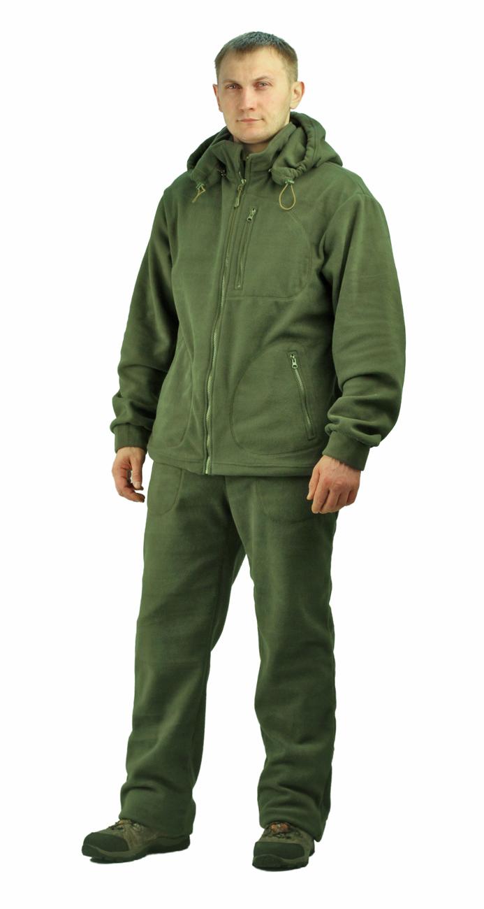 Флисовый мужской костюм Gerkon Picnic цвет Хаки Костюмы флисовые<br>Модельные особенности: куртка и брюки - <br>отстёгивающийся капюшон с регулировкой <br>по овалу лица и объему – прорезные карманы <br>на молнии на куртке и брюках – регулировка <br>объема по низу куртки, поясу и низу брюк<br><br>Пол: мужской<br>Размер: 60-62<br>Рост: 182-188<br>Сезон: демисезонный<br>Материал: Флис 300 г/м2,100%п/э