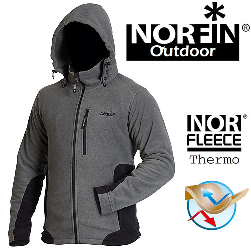 Куртка Флисовая Norfin Outdoor Gray (XXXL, 475106-XXXL)