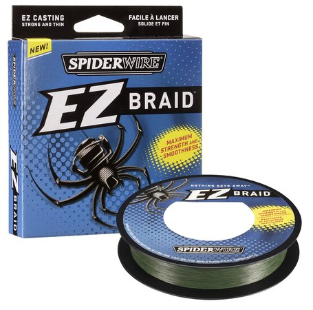 Леска плетеная SPIDERWIRE EZ BRAID 0.12mm (137m)(6.2kg)(зеленая)Леска плетеная<br>Непревзойденное качество плетеных шнуров <br>дает прочность и гладкость. Волокна Dyneema <br>в 3 раза прочней монолески. Высокая чувствительность. <br>Яркая окраска. Цвет – зеленый.<br>