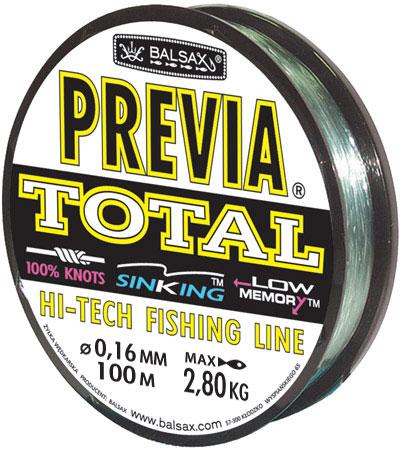 Леска BALSAX Previa Total 100м 0,16 (2,8кг) total fluide da в перми