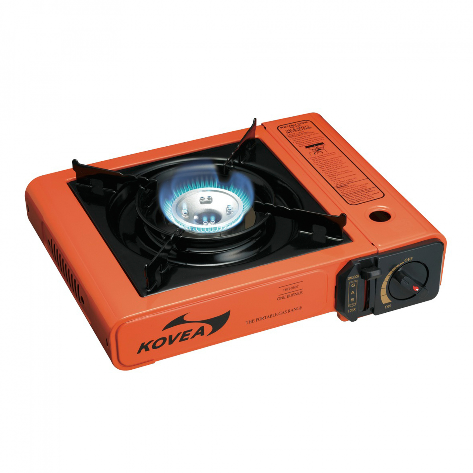 Плита газовая Kovea TKR-9507Плиты<br>Классическая модель одноконфорочной портативной <br>плитки. Благодаря удобству использования <br>и демократичной цене, она является самой <br>популярной моделью. Многие люди, столкнувшиеся <br>с отключением электричества, и те, кто просто <br>любит путешествовать с комфортом, всегда <br>имеют у себя на даче или в машине портативную <br>плитку и запас газовых баллонов. Плита надежна, <br>предельно проста в использовании и не имеет <br>ломающихся деталей. Имеет пъезоподжиг, <br>упаковывается в удобный пластиковый кейс. <br>Работает от цангового баллона 220 г, который <br>помещается внутри плиты. Комплектация: <br>Газовая плита, пластиковый кейс, инструкция <br>по эксплуатации. Модель TKR-9507 Вес 1800 г Расход <br>топлива 160 г/ч Размер упаковки 380x105x350 мм <br>Диаметр конфорки 28 см Пъезоэлемент есть<br>