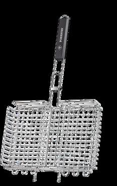 Решётка-гриль FORESTER объёмн больш 26х38х0,5-4,5Решетки, сковороды для гриля<br>Большая рабочая поверхность — 26х38 см — <br>позволяет готовить на решетке несколько <br>порций одновременно. Регулируемая высота <br>решетки от 0,5 до 4,5 см дает дополнительное <br>удобство — можно жарить как тонкие, так <br>и толстые куски. Решетка предназначена <br>для приготовления мяса, птицы, рыбы и овощей <br>на открытом огне. Выполнена из пищевой коррозионностойкой <br>стали. Надежное кольцо-фиксатор гарантирует, <br>что продукты в процессе готовки не выпадут <br>из решетки, а ручка из дерева предохранит <br>ваши руки от ожогов.<br>