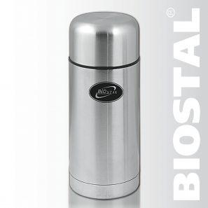 Термос Biostal NТ-1000 1,0л (широкое горло, суповой)Термосы<br>Легкий и прочный Сохраняет напитки горячими <br>или холодными долгое время Изготовлен из <br>высококачественной нержавеющей стали Предназначен <br>для первых и вторых блюд С чехлом для хранения <br>и переноски термоса Пробка с дополнительной <br>теплоизоляцией, и клапаном, облегчающим <br>открытие термоса Характеристики: Объем: <br>1,0 литра Высота: 23,1 см Диаметр: 10,2 см Вес: <br>750 г Размеры упаковки: 11,5х11,5х25,2 см<br>