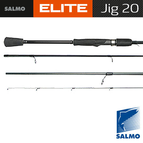 Спиннинг Salmo Elite Jig 20 2.20Спинниги<br>Удилище спин. Salmo Elite JIG 20 2.20 дл.2,20м./вес112г/тест5-20/кол. <br>Секц2/дл. Тр.115 Очень легкий и элегантный <br>спиннинг, специально предназначенный для <br>ловли на джиг-приманки. На бланке установлены <br>облегченные кольца со вставками SIC по новой <br>концепции. Вклеенная вершинка отлично реагирует <br>на все касания приманкой дна и аккуратные <br>поклевки. Соединение колен типа OVER STEEK. Рукоятка <br>разнесенная, из материала EVA с передней <br>гайкой крепления катушки Материал бланка <br>удилища – углеволокно (IM7) Строй бланка <br>быстрый Класс спиннинга L, ML, M Конструкция <br>штекерная Соединение колен типа OVER STEEK Кольца <br>пропускные: – облегченные одноопорные <br>– со вставками SIC – с расстановкой по новой <br>концепции Рукоятка: – разнесенная из материала <br>EVA Катушкодержатель: – винтового типа Проволочная <br>петля для закрепления приманок<br><br>Сезон: лето
