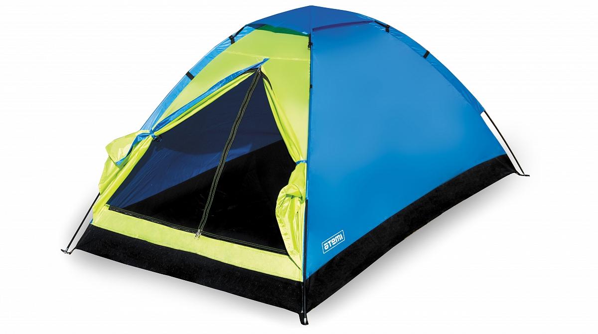 Палатка SHERPA 2 TX AtemiПалатки<br>Однослойная облегченная двухместная палатка <br>эконом-клаcса, для непродолжительных стоянок. <br>Из особенностей можно отметить малый вес, <br>легкость и простоту в сборке. Палатка имеет <br>москитную сетку, вентиляционное окно, проклеенные <br>швы. Тент: 100% полиэстер, 1500 мм/ст Внутренняя <br>палатка: нет Каркас: фиберглассовые трубки <br>7.9 мм Дно: Влагонепроницаемый армированный <br>полиэтилен Количество входов: 1 Полный вес: <br>1,75 кг Количество тамбуров: нет Размер спального <br>места: 140 х 210 см Размер тамбура: нет Высота <br>палатки: 100 см<br><br>Сезон: лето