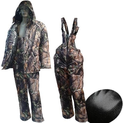 Костюм Зим. ТайгаКостюмы утепленные<br>Костюм зимний ТАЙГА алова, верх куртки <br>мат.мембрана/цв.Лес/Утепл. Taffeta Omni-Heat термофайбер <br>300 гр/м2 Костюм с подкладкой Taffeta Omni-Heat, состоит <br>из куртки и высокого полукомбинезона, для <br>использования рыболовами, охотниками, т.к. <br>ткань не шуршит. Температурный режим до <br>-30С. Ткань верха - мембрана - пароотводящая, <br>непромокаемая. Подкладка Taffeta Omni-Heat, Технология <br>температурной регуляции Omni-Heat отражает <br>и сохраняет собственное тепло человека <br>на 20% больше, отражая его с помощью серебристых <br>точек, и в тоже время отводит излишнее тепло <br>и влагу. Утеплитель - полое внутри волокно <br>термофайбер плотностью 300 грамм на кв.метр. <br>Куртка с утяжкой на талии, на двухзамковой <br>молнии с ветрозащитной планкой, имеет 2 <br>больших внешних кармана на талии, а также <br>2 прорезных кармана на груди (на кнопке) <br>и 1 внутренний карман. На рукавах есть внутренняя <br>манжета. Капюшон пристёгивается кнопками, <br>имеет утяжку и защитный клапан на липучке. <br>Полукомбинезон на молнии. 2 кармана на<br><br>Пол: мужской<br>Размер: 60-62<br>Сезон: зима<br>Цвет: серый