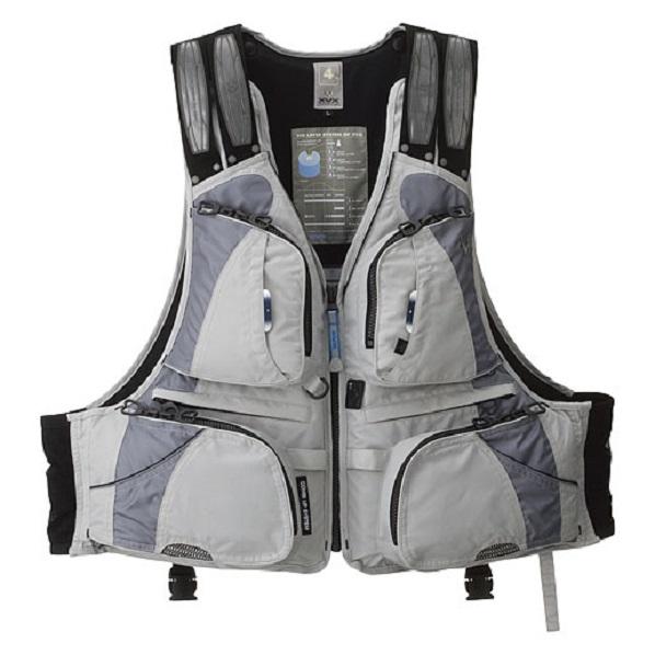 Жилет Daiwa плавающий XVX XF - 3012 Gray L / 04535147Грузила<br>Спасательный жилет серии XVX Barrier Tech. Мембранный <br>ветрозащитный материал Barrier Tech с хорошими <br>«дышащими» характеристиками. Дополнительный <br>карман с платформой для крепления ретривера.<br>