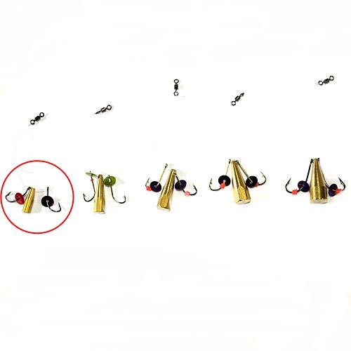 Мормышка Латунная Балда Паетка №4Мормышки, джиг-головки зимние<br>Мормышка латун. БАЛДА пайет. №4 диам. 4мм/матер. <br>латунь/кр.№8/кол.в уп.10шт Балда – традиционно <br>русская снасточка-приманка предназначенная <br>для ловли рыбы в зимнее время со льда. Уникальность <br>и уловистость данной приманки состоит в <br>том, что ее игра в воде очень схожа с реальными <br>движениями личинки стрекозы. А как известно, <br>личинка стрекозы любимое лакомство таких <br>рыб как окунь, лещ, плотва и др. Соответственно <br>трофеями рыболовов при ловле на «балду» <br>становятся практически все рыбы водоема. <br>Производится данная приманка из полированного <br>латунного прутка диаметром 4, 5, 6, 7 и 8 мм. <br>Ассортимент выражен 5 размерами № 4 (диаметр <br>прутка 4 мм, крючок №8), № 5 (диаметр прутка <br>5 мм, крючок №7), № 6 (диаметр прутка 6 мм, крючок <br>№6), № 7 (диаметр прутка 7 мм, крючок №5), № <br>8 (диаметр прутка 8 мм, крючок №4). Крючки <br>по европейской классификации.На крючках, <br>имитирующих лапки насекомого, применяется <br>подсадка таких игровых акустических элементов <br>как латунный шарик, паетка, кембрик и бисер. <br>Каждое изделие упаковано в пл<br><br>Сезон: Зимний<br>Материал: Латунь