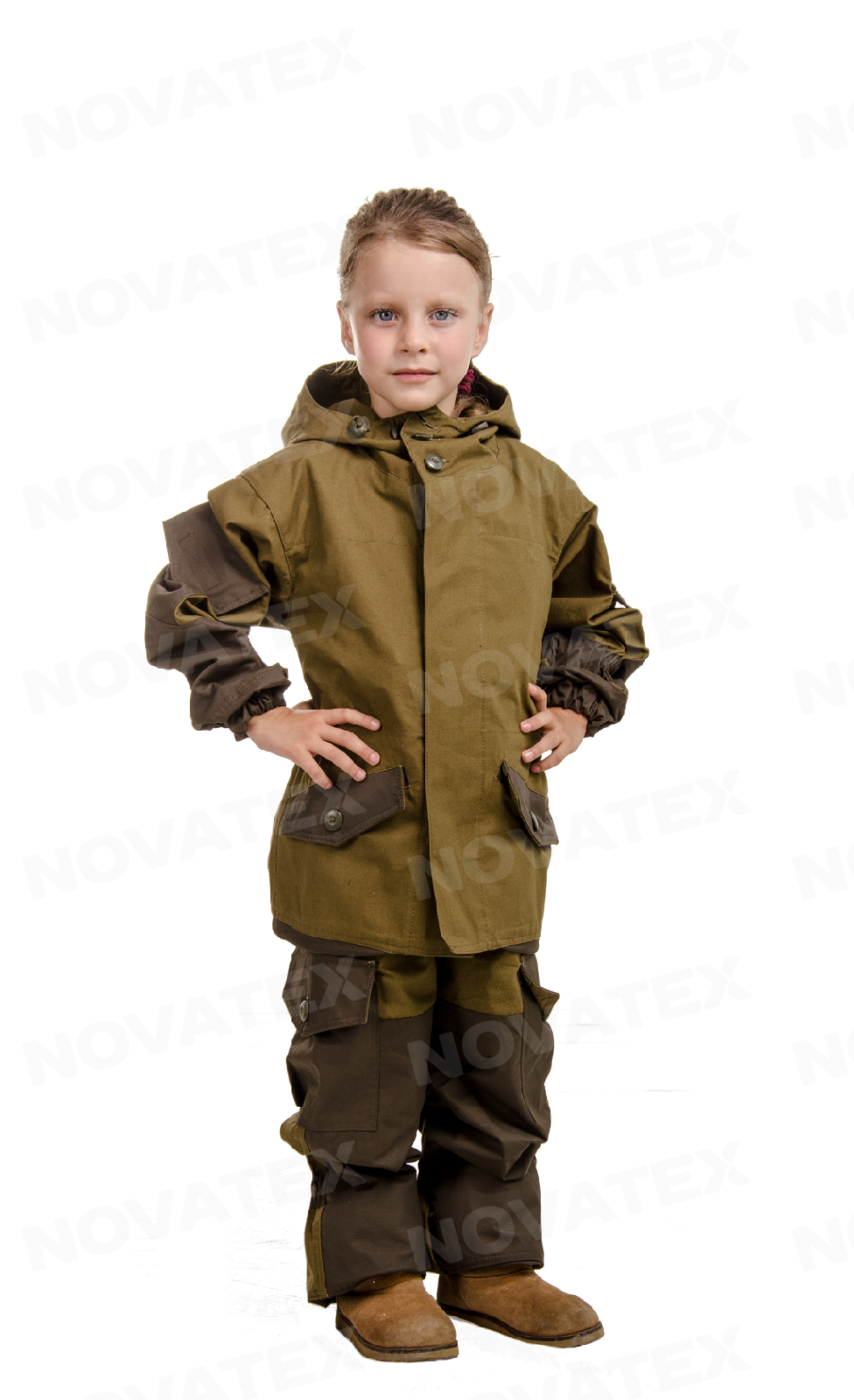 Костюм «Горка палатка» (палатка, т.хаки) Костюмы неутепленные<br>Предлагаем вам костюм «Горка Палатка» <br>(ТМ «Квест») от компании Novatex. Костюм «Горка <br>Палатка» является модификацией знаменитого <br>костюма «Горка» используемого в спецподразделениях, <br>так что его можно рекомендовать людям, живущим <br>активной жизнью, привыкшим помногу и подолгу <br>бывать на свежем воздухе в экстремальных <br>условиях. Костюм «Горка Палатка» состоит <br>из куртки и брюк на подтяжках. Отличается <br>специальным анатомическим кроем, характерным <br>для данной линии одежды. Этот костюм не <br>стесняет движений, дает свободу перемещения <br>в условиях пересеченной местности. «Горка-Палатка» <br>выполнен из 100% хлопковой ткани «палатка» <br>в классической расцветке хаки. Эта ткань <br>хорошо дышит, не создает дискомфорта для <br>тела, обладая при этом классической прочностью <br>брезента. Места повышенного износа имеют <br>дополнительное усиление. Усиление и отделка <br>производится мембранной тканью «кошачий <br>глаз», которая не пропускает влагу снаружи, <br>отводит ее изнутри и обладает повышенной <br>износостойкостью. Рекомендован для военных, <br>охотников, рыбаков, туристов, любителей <br>военно-спортивных игр, представителей силовых <br>структур.<br><br>Пол: унисекс<br>Размер: 32-34<br>Рост: 134-140<br>Сезон: лето<br>Цвет: оливковый