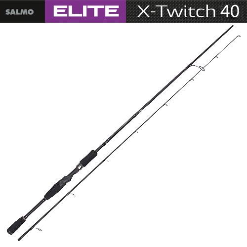 Спиннинг Salmo Elite X-Twitch 40 2.10Спинниги<br>Удилище спин. Salmo Elite X-TWITCH 40 2.10 дл.2,13м./вес138г/тест10-40/кол.секц.2/дл.тр.110 <br>Высококачественный спиннинг быстрого строя <br>и повышенной жесткости, изготовлен из высокомодульного <br>графита IM9. «Рапирный» строй позволяет наиболее <br>легко и грамотно производить твичинговую <br>проводку приманок. Бланк спиннинга имеет <br>соединение колен по типу OVER STEEK, он укомплектован <br>кольцами со вставками SIC, установленными <br>по новой концепции, и надежным катушкодержателем <br>FUJI. Материал бланка удилища – углеволокно <br>(IM9) Строй бланка быстрый Класс спиннинга <br>M Конструкция штекерная Соединение колен <br>типа OVER STEEK Кольца пропускные: – облегченное <br>большое – со вставками SIC – с расстановкой <br>по новой концепции Рукоятка: – EVA – разнесенная <br>Катушкодержатель: – винтового типа Проволочная <br>петля для закрепления приманок<br><br>Сезон: лето