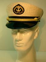 Капитанка 20-1 лён, бежевая, с регулировкой, Форменные головные уборы<br><br><br>Пол: мужской<br>Сезон: лето<br>Цвет: белый
