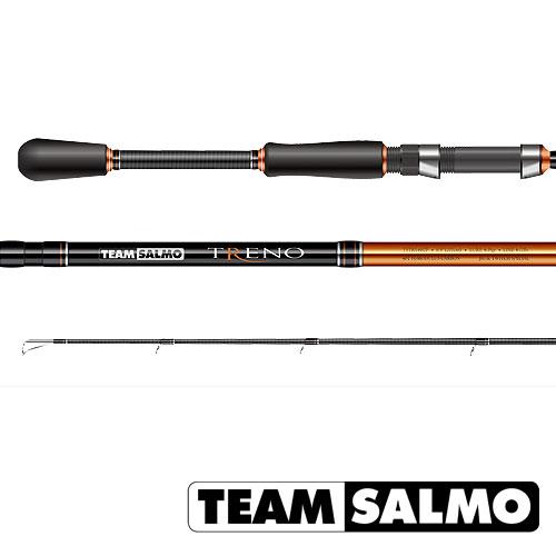 Спиннинг Team Salmo Treno 24 6.82Спинниги<br>Удилище спин. Team Salmo TRENO 24 6.82 дл.2.07м/тест7-24г/96г <br>Серия спиннингов TRENO разработана специально <br>для ловли хищной рыбы твичингом и на джиг-приманки. <br>Бланки этой серии изготовлены из усовершен- <br>ствованного высокомодульного графита 40T, <br>обеспечивающего максимальную прочность, <br>а также высокую чувствительность по всему <br>заявленному те- стовому диапазону. Строй <br>бланков быстрый и экстра быстрый. Бланк <br>в основании достаточно толстый, что дает <br>преимущества не только при вываживании <br>крупной рыбы, но и при рывковой проводке <br>воблеров. Несмотря на относительно небольшую <br>длину, спиннинги TRENO обладают отличными <br>бросковыми характеристиками. Спиннинги <br>укомплектованы пропускными кольцами Fuji <br>K-guide с вставками SIC. Наклоненные колечки <br>на вершинке - раннинги и противозахлестный <br>тюльпан, не позволят запутаться за них в <br>сильный ветер даже мягкому PE шнуру. В элегантной <br>и практичной разнесенной рукоятке, из прочного <br>материала EVA, установлен катушкодержатель <br>VSS от Fuji с задней гайкой крепления. Материал <br>ручек<br><br>Сезон: лето