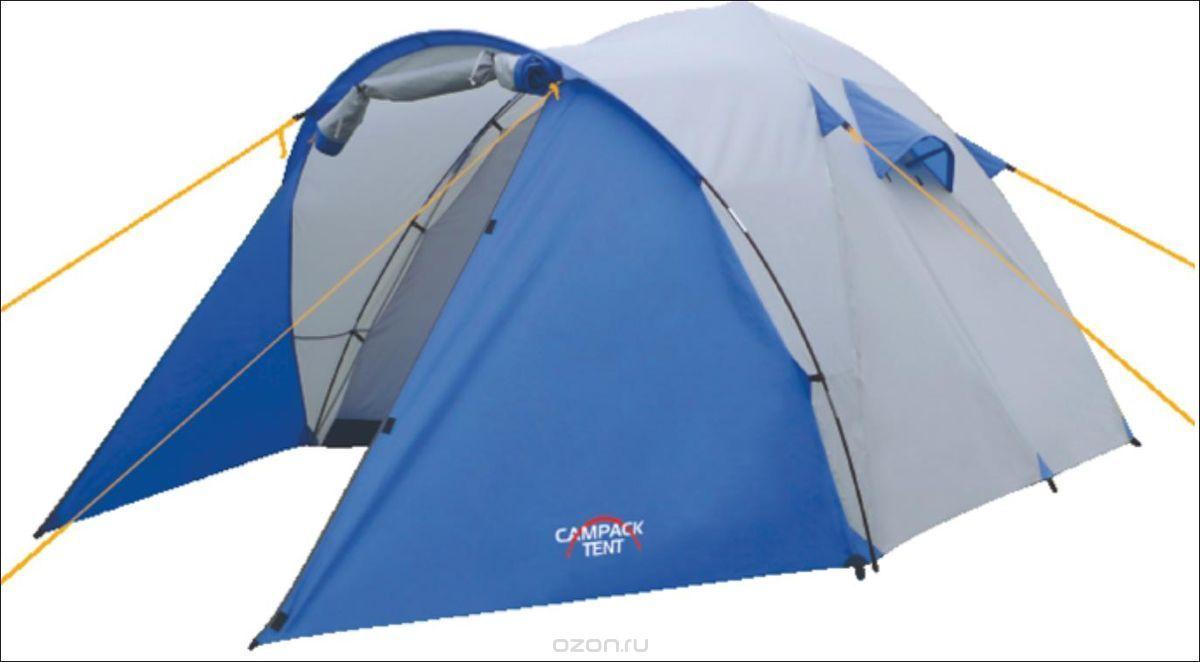 Палатка туристическая CAMPACK-TENT Storm Explorer 2Палатки<br>Универсальная палатка для несложных походов <br>и семейного отдыха на природе. Конструкция <br>позволяет использовать ее как ранней весной, <br>так и во время осенних выездов, когда погода <br>меняется каждую минуту. Высокопрочное дно <br>изготовлено из армированного полиэтилена, <br>не пропускает влагу и устойчиво к истиранию. <br>Каркас, изготовленный из фибергласса, обеспечивает <br>надежность и устойчивость. Палатка оснащена <br>увеличенными вентиляционными окнами, клапаном <br>от косого дождя и двух- слойной дверью с <br>цветными молниями. Внешнее крепление третьей <br>дуги, значительно облегчает установку палатки. <br>Внутри палатки имеется подвеска для фонаря <br>и карма- ны для хранения мелочей. Модель <br>Storm имеет два раздельных входа. Основной <br>вход надежно защищен боковыми тентовыми <br>«крыльями», которые предотвращают задува- <br>ние холодного воздуха, при сильных порывах <br>ветра. Проклеенные швы гарантируют герметичность <br>и надежность в любой ситуации. Ткань тента:190T <br>P. Taffeta PU 3000MM Ткань палатки:170T P. Taffeta + MESH Ткань <br>дна:Tarpauling Вес: 3,9 кг Дуги: 7,9 мм и 8,5 мм Ремнабор: <br>Самоклеющиеся заплатки 100 х 100 мм из ткани <br>190T P. Taffeta PU 3000MM<br>