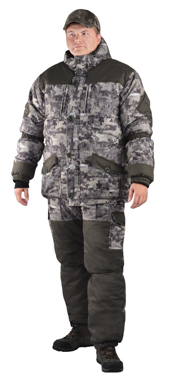 Костюм мужской Nordwig Donbass зимний кмф т.Алова Костюмы утепленные<br>Модель – рекомендуется для активного отдыха, <br>охоты, рыбалки и туризма Костюм оснащён <br>объёмными карманами «антивор» - Куртка <br>на молнии и закрывается ветрозащитной планкой <br>на пуговицах - Внутри куртки ветрозащитный <br>пояс - Внутренние трикотажные манжеты – <br>Фиксированная регулировка по талии, локтевым <br>частям рукава и нижним частям брюк - Дополнительное <br>усиления на плечах, локтях и коленях – Низ <br>рукава и брюк на резинке – Брюки с отстёгивающейся <br>утеплённой спинкой на бретелях.<br><br>Пол: мужской<br>Размер: 52-54<br>Рост: 182-188<br>Сезон: зима<br>Материал: мембрана