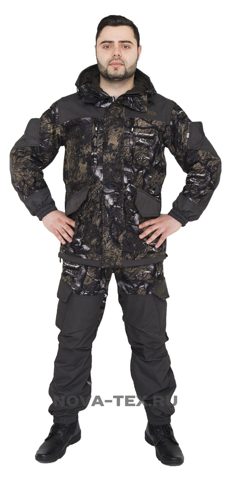 Костюм мужской Горка Осень-Алова (темная Костюмы утепленные<br>Костюм «Горка Осень» ( ТМ «Payer») - разработан <br>в компании Novatex на основе легендарного костюма <br>«Горка», используемого в спецподразделениях, <br>а также огромным числом любителей всевозможного <br>экстрима. Костюм «Горка Осень» состоит <br>из куртки и брюк на подтяжках. Отличается <br>специальным анатомическим кроем, характерным <br>для данной линии одежды. Он не стесняет <br>движений, дает свободу перемещения в условиях <br>пересеченной местности. Верхний слой изготовлен <br>из современной ткани «Дуплекс», обладающей <br>отличными ветрозащитными свойствами, подкладка <br>из мягкого гипоаллергенного флиса обеспечивает <br>комфорт и тепло. Места повышенного износа <br>имеют дополнительное усиление мембранной <br>тканью «кошачий глаз», которая не пропускает <br>влагу снаружи, отводит ее изнутри и обладает <br>повышенной износостойкостью. Рекомендован <br>для военных, охотников, рыбаков, туристов, <br>любителей военно-спортивных игр, представителей <br>силовых структур. Особенности модели: -ветрозащитная <br>ткань -двойная ветрозащитная планка -анатомический <br>крой -двухзамк<br><br>Пол: мужской<br>Размер: 44-46<br>Рост: 170-176<br>Сезон: демисезонный<br>Цвет: коричневый<br>Материал: мембрана