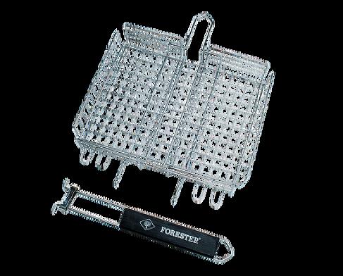 Решётка-гриль FORESTER MOBAIL. Пикник под ключ! Решетки, сковороды для гриля<br>• съемная ручка позволяет мыть решетку <br>в посудомоечной машине • компактные размеры <br>в сложенном состоянии (38х30 см) делают решетку <br>удобной в хранении и транспортировке • <br>регулируемая от 0,5 до 4,5 см высота решетки <br>позволяет готовить продукты разной толщины <br>Страна производства Китай<br>