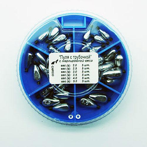 Грузила Пуля С Трубочкой 6 Секций 085 НаборГрузила наборы<br>Грузила ПУЛЯ с трубочкой 6 секц. 085 набор <br>вес 2,0г; 2,5; 3,0г; 3,5,г; 4,0г; 5,0г/на силиконовой <br>трубочке Для поплавочной и легкой донной <br>снасти. На каждом грузике нанесена маркировка <br>веса в граммах.<br><br>Сезон: Летний