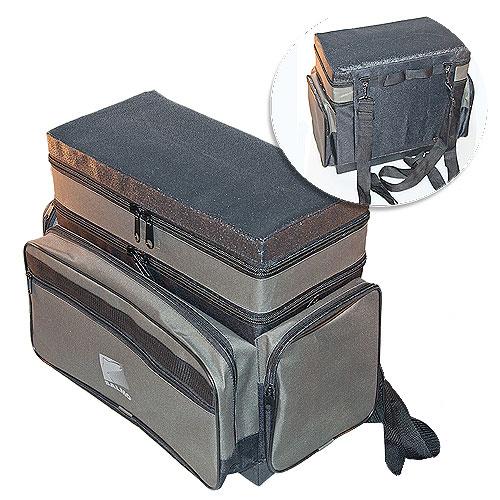 Ящик-Рюкзак Рыболовный Зимний Пенопластовый Ящики рыболова<br>Ящик-рюкзак рыболов. зим. пенопл. 2-х ярус. <br>H-2LUX пенопл.в сумке/2 яр./разм.40х19х38(см) Ящик-сумка-рюкзак <br>зимний рыболовный из плотного авиационного <br>пенопласта. Внутренний объём - 3+16 литров<br><br>Сезон: Зимний