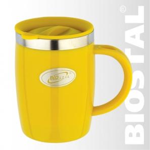 Термокружка Biostal с крышкой NE-400A 0,4л.Кружки, стаканы<br>Артикул: NE-400A Объем: 0,4 литра Высота: 12,0см <br>Диаметр: 8,5см Вес: 194г Размер упаковки: 9,5Х13,0Х12,5см<br>
