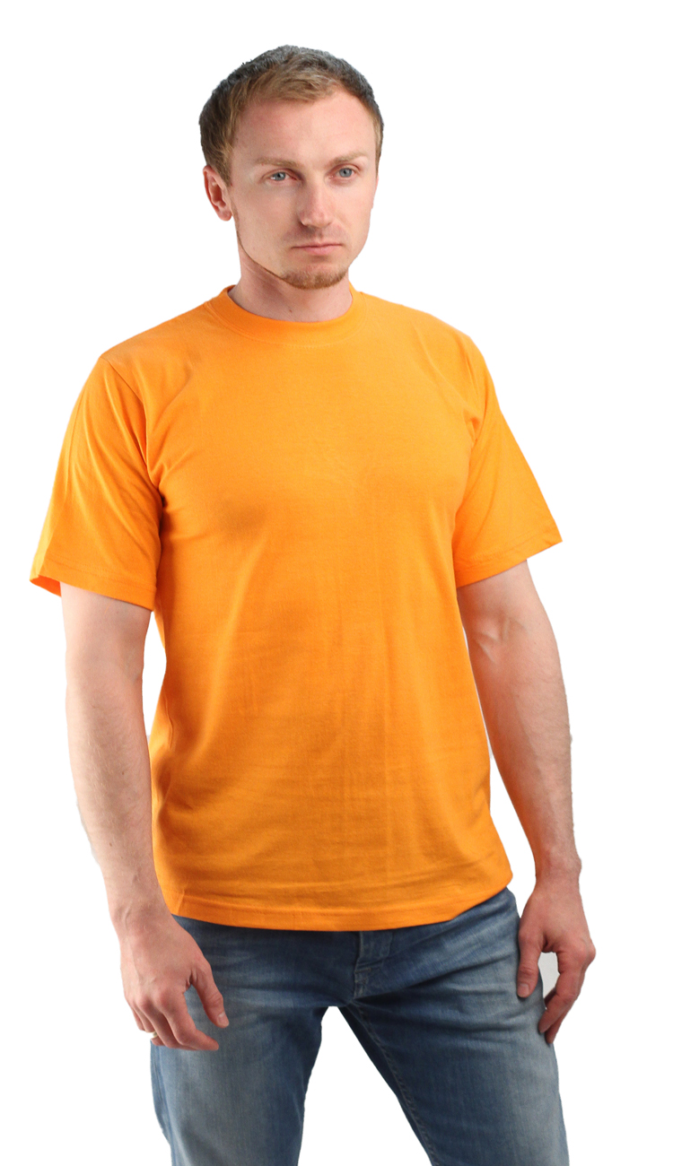 Футболка оранжевая (L)Футболки к/рукав<br>Классическая футболка из мягкого эластичного <br>трикотажа. - прямой силуэт - короткий рукав <br>- круглый вырез горловины Размеры: M-XXXL<br><br>Пол: мужской<br>Размер: L<br>Сезон: все сезоны<br>Цвет: оранжевый<br>Материал: Трикотаж (95% - х/б, 5% - лайкра), пл. 160 г/м2.