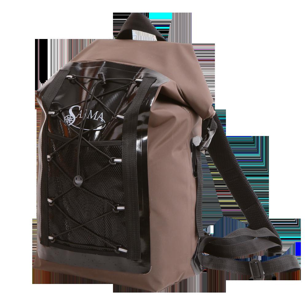 Рюкзак водонепроницаемый Sarma С008-1(25л)Рюкзаки<br>Описание: Водонепроницаемый рюкзак сделан <br>из непромокаемого армированного ПВХ материала, <br>а герметичная закрутка верха обеспечивает <br>отличную защиту вещей от промокания. У рюкзака <br>эргономичная форма плечевых ремней, поясной <br>ремень и грудной фиксатор, что создает максимум <br>комфорта и позволяет носить даже полностью <br>загруженный рюкзак без дискомфорта. Легкий <br>съемный каркас во внутреннем кармане рюкзака <br>из вспененного материала (ЭВА) толщиной <br>7 мм. может быть использован как небольшой <br>коврик. - анатомические лямки; - грудной <br>фиксатор; - полная защита вещей от влаги; <br>- съемный каркас-пенка; - разгрузочный поясной <br>ремень (переносит часть нагрузки с плеч <br>на поясницу и бедра). Рекомендуется использовать <br>во время рыбалки или при сплаве. Имеет внутренние <br>и внешние сетчатые карманы для небольших <br>предметов и эластичную нейлоновую шнуровку <br>снаружи. Цвет изделия: коричневый Вес изделия:1,1кг <br>Материал изделия: армированная ПВХ ткань<br><br>Цвет: коричневый<br>Материал: ПВХ