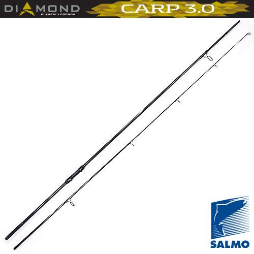 Удилище Карповое Salmo Diamond Carp 3.0Lb/3.90Удилища карповые<br>Удилище карп. Salmo Diamond CARP 3.0lb/3.90 дл.3.90м/тест <br>3.0lb/строй M/375г/2ч./дл.тр.200см Двухколенное <br>карповое удилище,среднего строя,с бланком <br>из графита IM6 с достаточной жесткостью и <br>хорошей посылистостью.Удилище имеет: усиленные <br>кольца со вставками SIC,разнесенную рукоятку <br>с неопреновыми ручками ,надежный винтовой <br>катушкодержатель и металлический буфер <br>на торце. Удилищем можно забрасывать приманки <br>весом до 120 г. • Материал бланка удилища <br>– углеволокно (IM6) • Строй бланка средний <br>• Конструкция штекерная • Соединение колен <br>типа OVER STEEK Кольца пропускные: – усиленные <br>двухопорные – со вставками SIC Рукоятка: <br>– неопреновая – разнесенная • Катушкодержатель <br>винтового типа<br><br>Сезон: лето